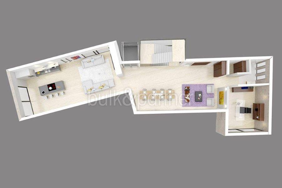 Exclusiva villa de lujo de primera línea en Altéa Campomanes - Plano 3D planta principal - ID: 5500659