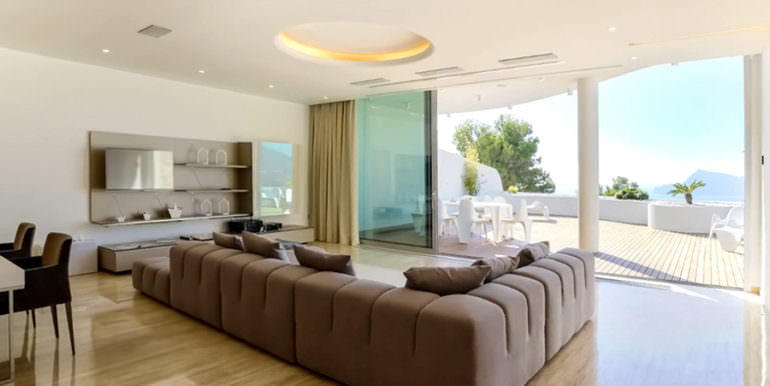 Luxury apartment with incredible sea views in Altéa la Sierra - Living and dining area - ID: 5500686