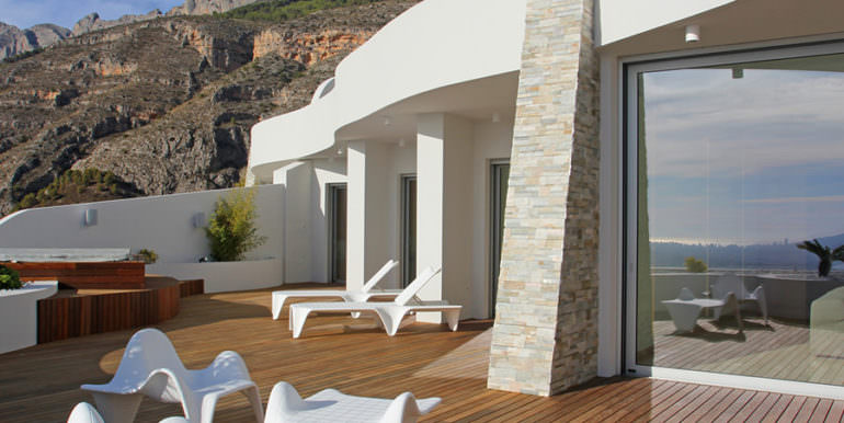 Apartamento de lujo con increíbles vistas al mar en Altéa la Sierra - Gran terraza abierta - ID: 5500686