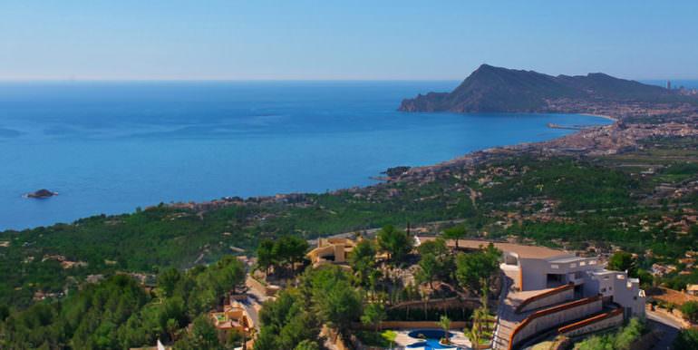 Apartamento de lujo con increíbles vistas al mar en Altéa la Sierra - Vistas al mar - ID: 5500686