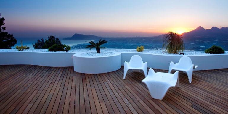 Apartamento de lujo con increíbles vistas al mar en Altéa la Sierra - Terraza con vistas al mar y panorámicas al atardecer - ID: 5500686