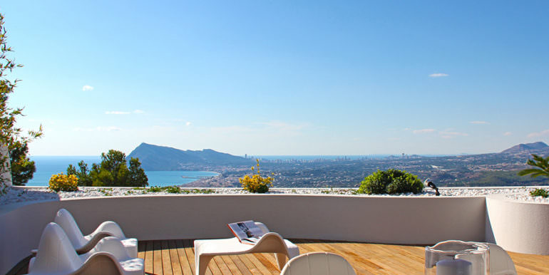 Luxury apartment with incredible sea views in Altéa la Sierra - Terrace with sea views - ID: 5500686