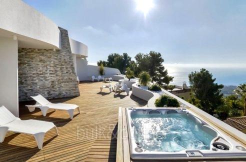 Luxuswohnung mit traumhaftem Meerblick in Altéa la Sierra - Terrasse mit Meerblick - ID: 5500686