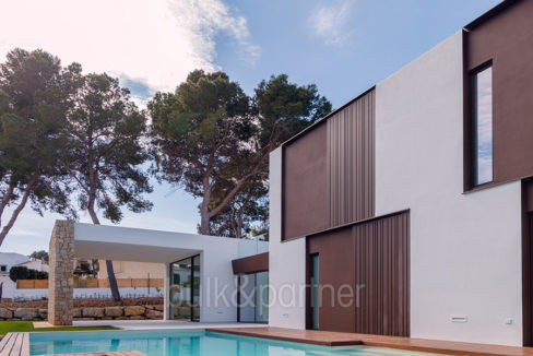 Modern design luxury villa in Moraira Moravit - Pool and covered terrace - ID: 5500684 - Architect Ramón Esteve Estudio