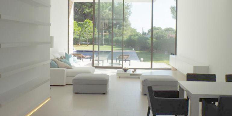 Modern new built luxury villa in Moraira El Portet - Dining and living area - ID: 5500685 - Architect Ramón Esteve
