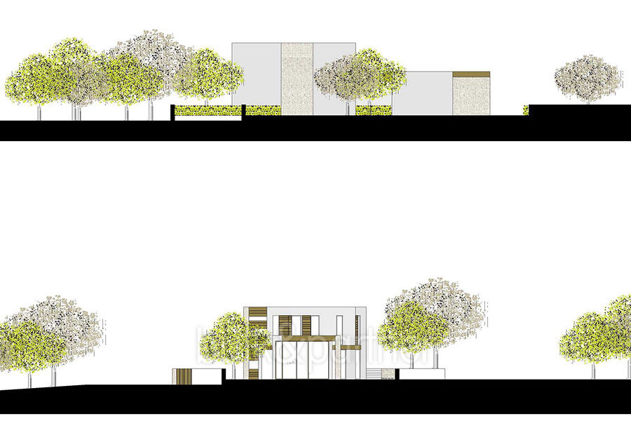 Modern new built luxury villa in Moraira El Portet - Floor plan view from south and west - ID: 5500685 - Architect Ramón Esteve