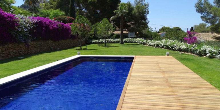 Modern new built luxury villa in Moraira El Portet - Pool and garden - ID: 5500685 - Architect Ramón Esteve