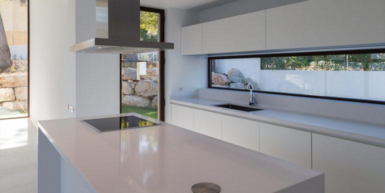 Modern design luxury villa in Moraira Moravit - Open kitchen and living area - ID: 5500684 - Architect Ramón Esteve Estudio