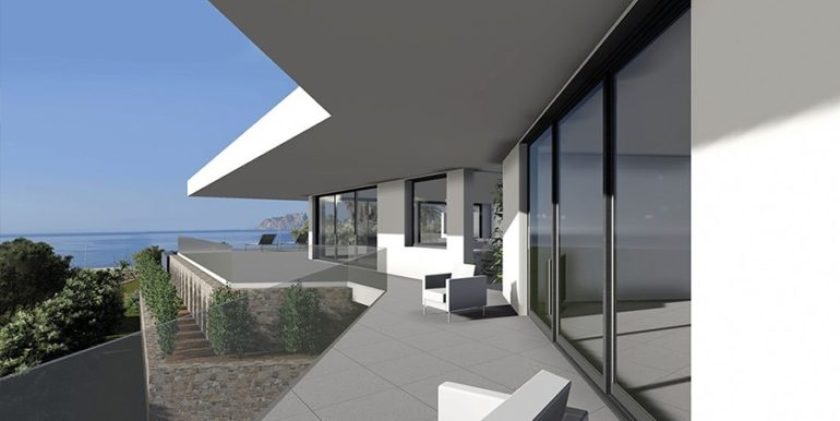 Modern new build luxury villa with sea views in Moraira Portichol - Sea views - ID: 5500656 - Architect Joaquín Lloret
