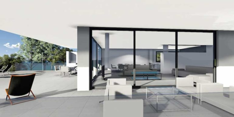 Modern new build luxury villa with sea views in Moraira Portichol - Covered terrace - ID: 5500656 - Architect Joaquín Lloret