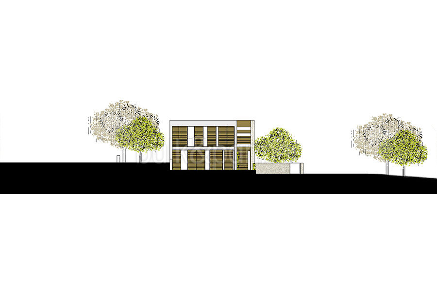 Modern new built luxury villa in Moraira El Portet - Floor plan view from north - ID: 5500685 - Architect Ramón Esteve