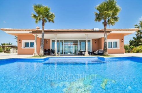Luxury property in prime location with breathtaking sea views in Moraira Coma de los Frailes - Pool terrace - ID: 5500661