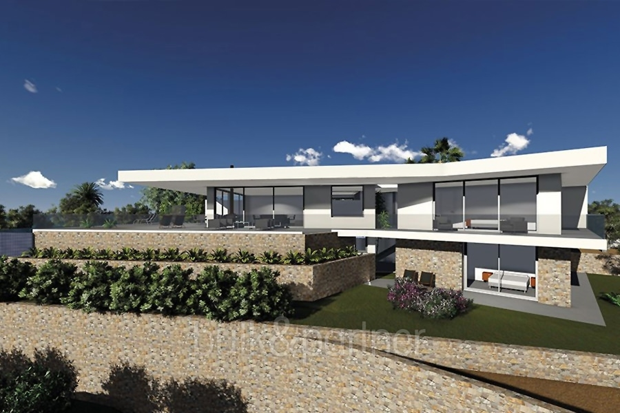 Modern new build luxury villa with sea views in Moraira Portichol