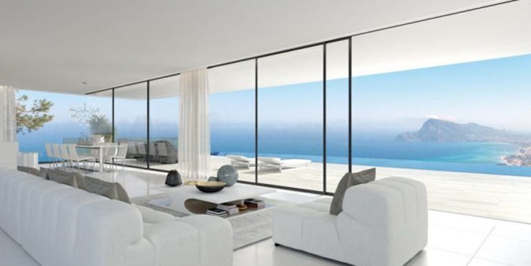 Luxury villa with stunning sea views in Altéa Hills - Living room with incredible sea views - ID: 5500669 - Architect Ramón Gandia Brull (RGB Arquitectos)