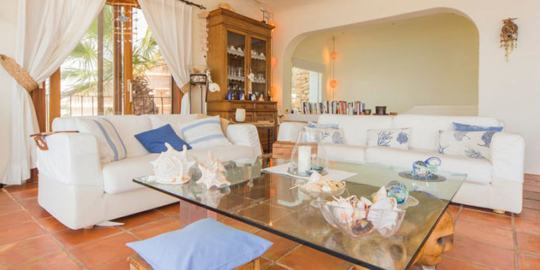 Exceptional ibiza style luxury villa in Moraira El Portet - Living area - ID: 5500687 - Architect Joaquín Lloret