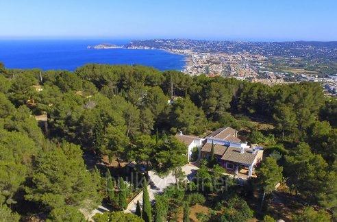 Exclusive Finca property with privacy in Jávea Cuesta San Antonio/La Plana - Aerial view and sea view - ID: 5500679