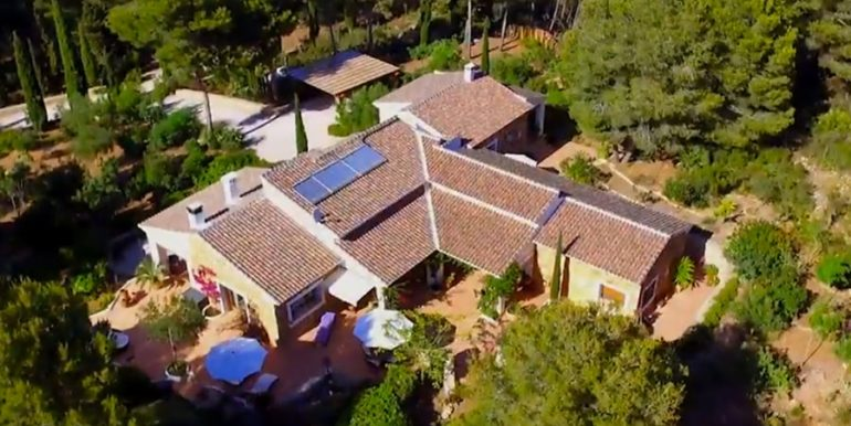 Exklusives Finca Anwesen mit Privatsphäre in Jávea Cuesta San Antonio/La Plana - Luftansicht - ID: 5500679