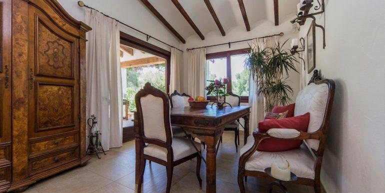 Exklusives Finca Anwesen mit Privatsphäre in Jávea Cuesta San Antonio/La Plana - Essbereich - ID: 5500679