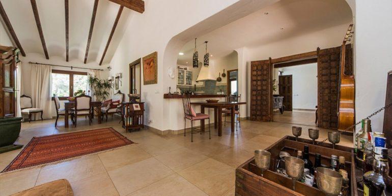 Exclusive Finca property with privacy in Jávea Cuesta San Antonio/La Plana - Living, dining and kitchen area - ID: 5500679