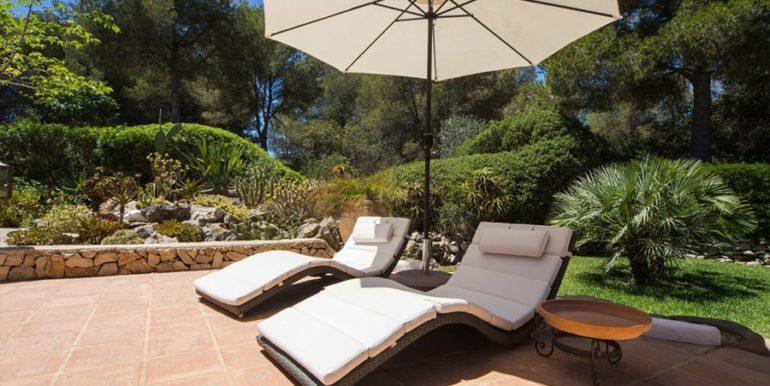 Exclusive Finca property with privacy in Jávea Cuesta San Antonio/La Plana - Sun terrace and garden - ID: 5500679