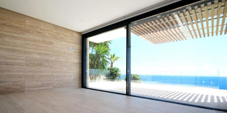 Gorgeous villa with exceptional sea views in Jávea Portichol - Bedroom with sea views - ID: 5500662