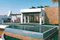 Villa de lujo ibicenca en una ubicación privilegiada en Moraira Portichol/Club Náutico - Terraza de la piscina y barbacoa - ID: 5500691 - Arquitecto Joaquín Lloret
