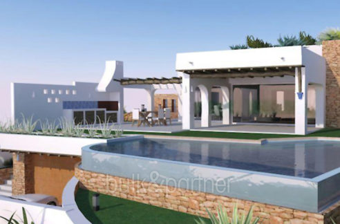 Ibizan luxury villa in top location in Moraira Portichol/Club Náutico - Pool terrace and BBQ - ID: 5500691 - Architect Joaquín Lloret