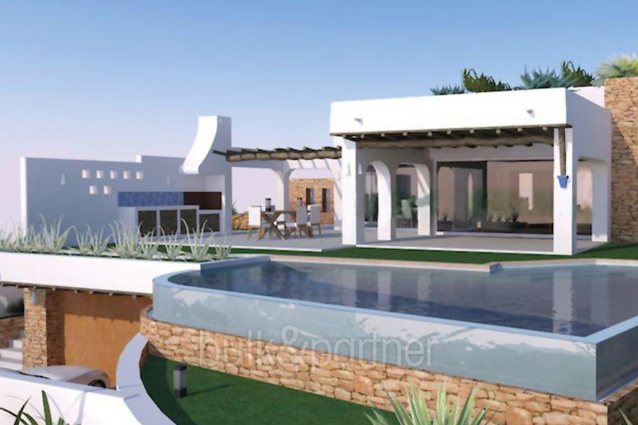 Ibizan luxury villa in top location in Moraira Portichol/Club Náutico