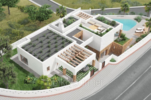 Luxury villa in Ibiza style with harbour/sea view in Moraira Portichol/Club Náutico - ID: 5500690 - Architect Joaquín Lloret