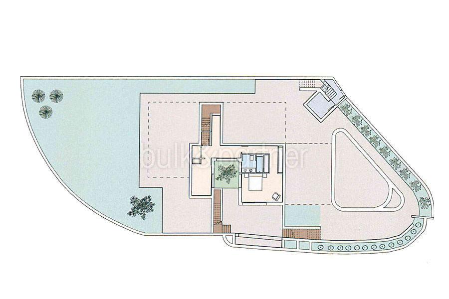 Luxury villa in Ibiza style with harbour/sea view in Moraira Portichol/Club Náutico - Floor plan basement - ID: 5500690 - Architect Joaquín Lloret