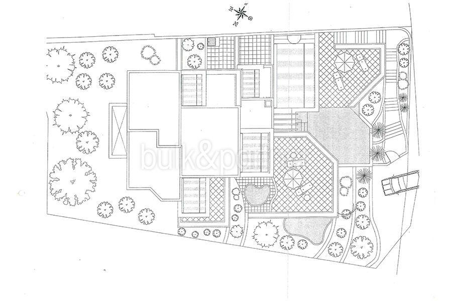 Außergewöhnliche Luxusvilla im Ibiza-Style in Moraira El Portet - Grundriss Infrastruktur - ID: 5500687 - Architekt Joaquín Lloret