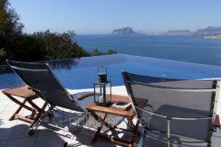 Hervorragende Luxusvilla in bester Lage in Moraira El Portet/Cap d'Or -Überlaufpool mit Meerblick - ID: 5500689 - Architekt Joaquín Lloret - Fotograf Torsten Bulk