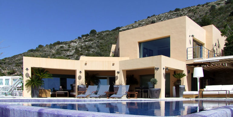 Superb luxury villa in prime location in Moraira El Portet/Cap d'Or - Villa and pool - ID: 5500689
