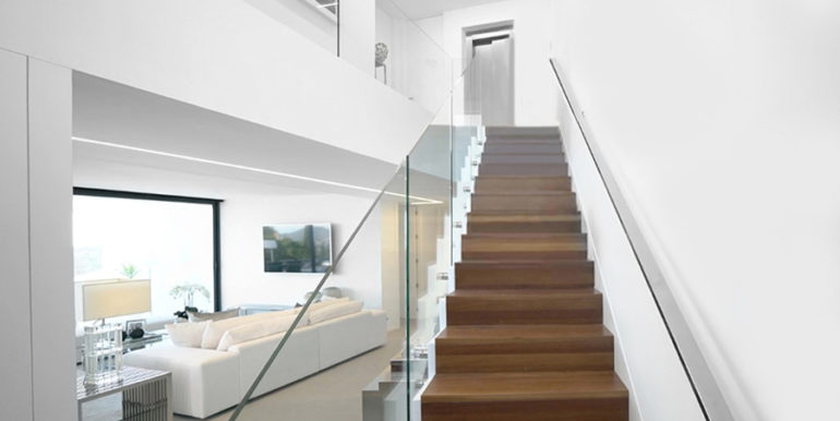 Luxury villa with perfect sea views in Moraira Benimeit - Living area and stairs - ID: 5500670 - Architect Ramón Gandia Brull (RGB Arquitectos)