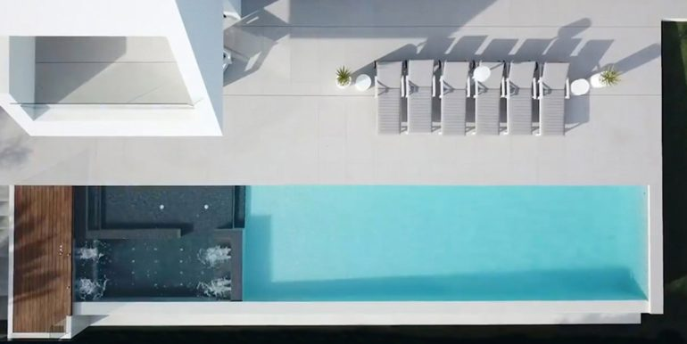 Luxury villa with perfect sea views in Moraira Benimeit - Pool view from above - ID: 5500670 - Architect Ramón Gandia Brull (RGB Arquitectos)
