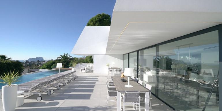 Luxury villa with perfect sea views in Moraira Benimeit - Pool terrace - ID: 5500670 - Architect Ramón Gandia Brull (RGB Arquitectos)