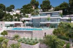 First line luxury villa with private beach access in Moraira Cap Blanc - Villa frontal - ID: 5500694