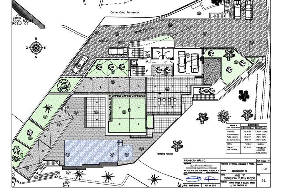 Luxusvilla in erster Meeresline mit privatem Strandzugang in Moraira Cap Blanc - Grundriss Ebene 3 - ID: 5500694
