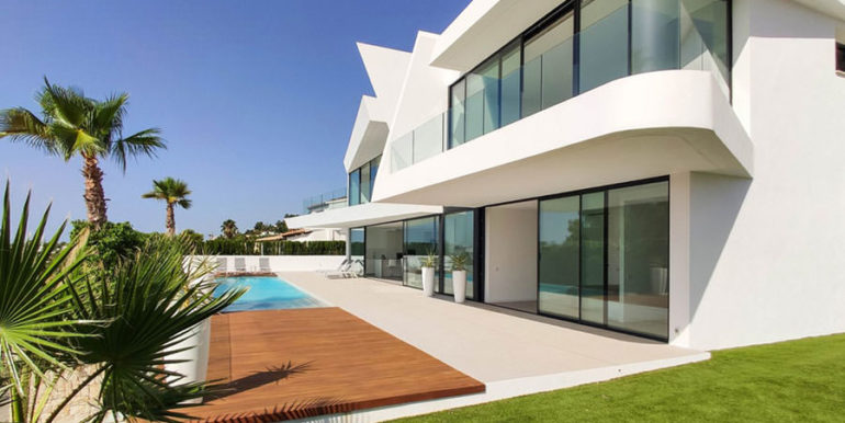 Luxury villa with beautiful sea views in Moraira Benimeit - Pool terrace - ID: 5500671 - Architect Ramón Gandia Brull (RGB Arquitectos)