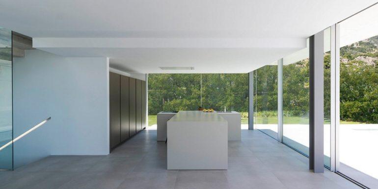 New build design villa with sea views in Moraira El Portet - American design kitchen - ID: 5500692 - Architect Dalia Alba