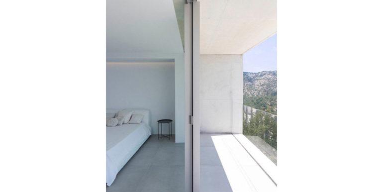 New build design villa with sea views in Moraira El Portet - Bedroom with terrace - ID: 5500692 - Architect Dalia Alba