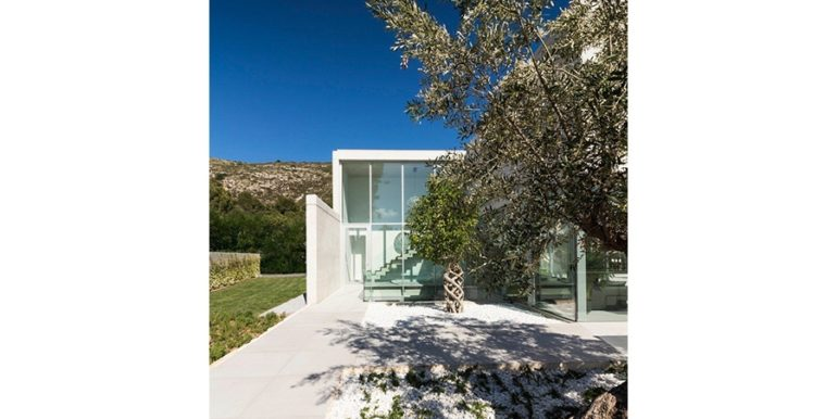 New build design villa with sea views in Moraira El Portet - Entrance area outdoor - ID: 5500692 - Architect Dalia Alba