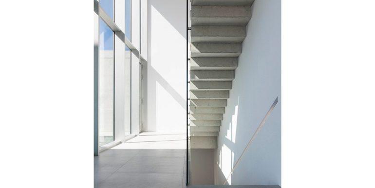 New build design villa with sea views in Moraira El Portet - Entrance and stairs ground floor - ID: 5500692 - Architect Dalia Alba