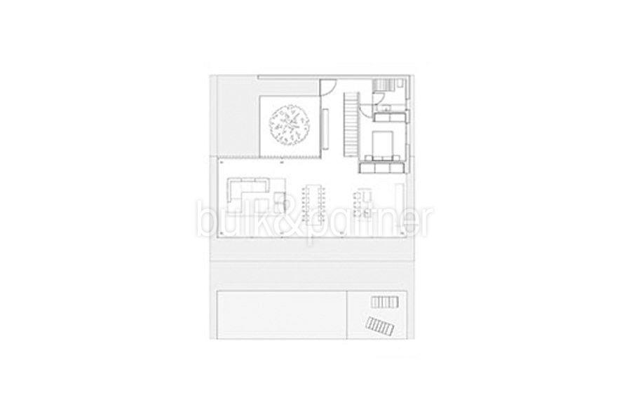 New build design villa with sea views in Moraira El Portet - Floor plan ground floor - ID: 5500692 - Architect Dalia Alba