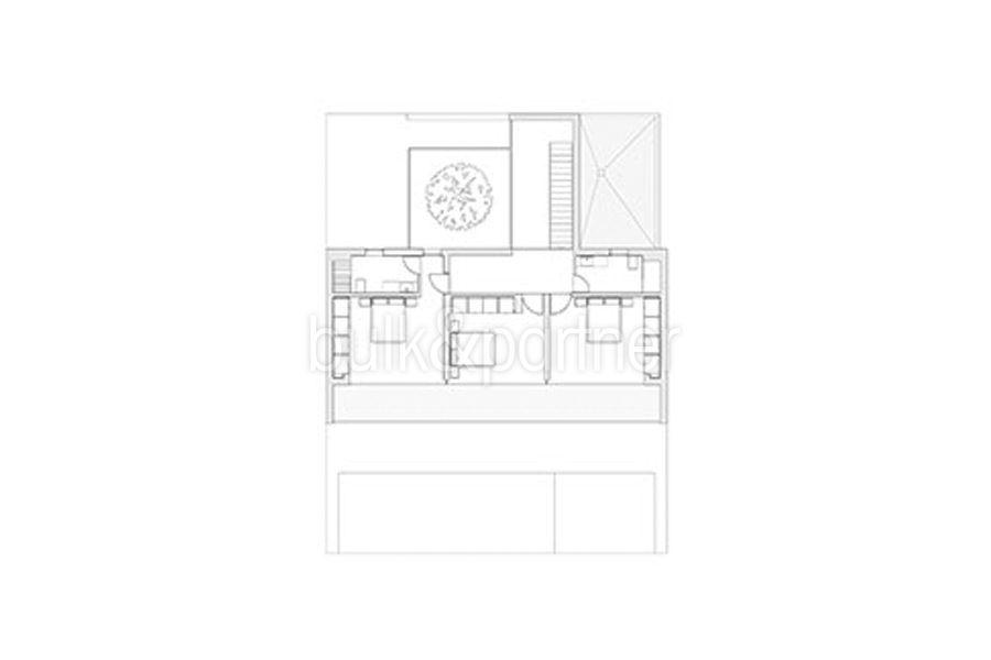 New build design villa with sea views in Moraira El Portet - Floor plan top floor - ID: 5500692 - Architect Dalia Alba