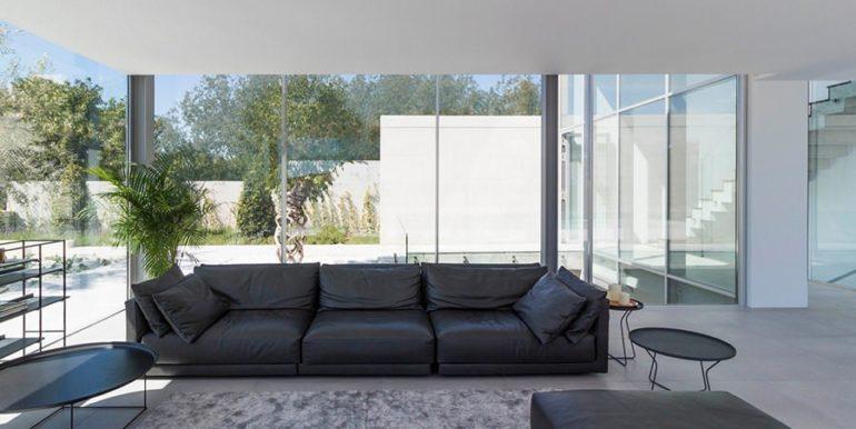 New build design villa with sea views in Moraira El Portet - Living area - ID: 5500692 - Architect Dalia Alba