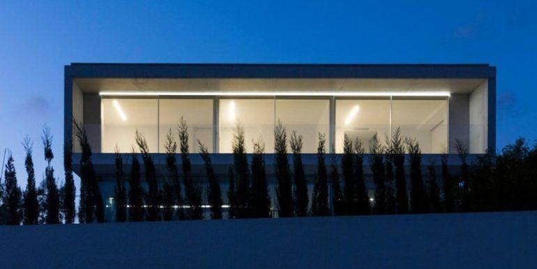 New build design villa with sea views in Moraira El Portet - By night illuminated - ID: 5500692 - Architect Dalia Alba