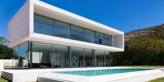 New build design villa with sea views in Moraira El Portet