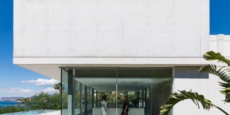New build design villa with sea views in Moraira El Portet - Side view - ID: 5500692 - Architect Dalia Alba