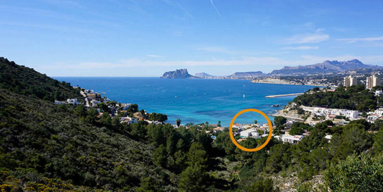 New build design villa with sea views in Moraira El Portet - Top location - ID: 5500692 - Architect Dalia Alba